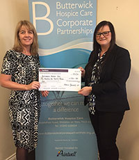 Money Raised for the Butterwick Hospice image